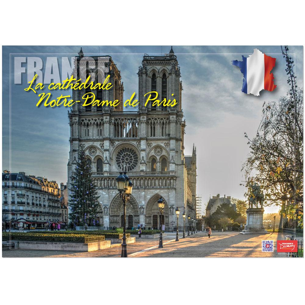 France La cathédrale Notre-Dame Enhanced® French Travel Poster