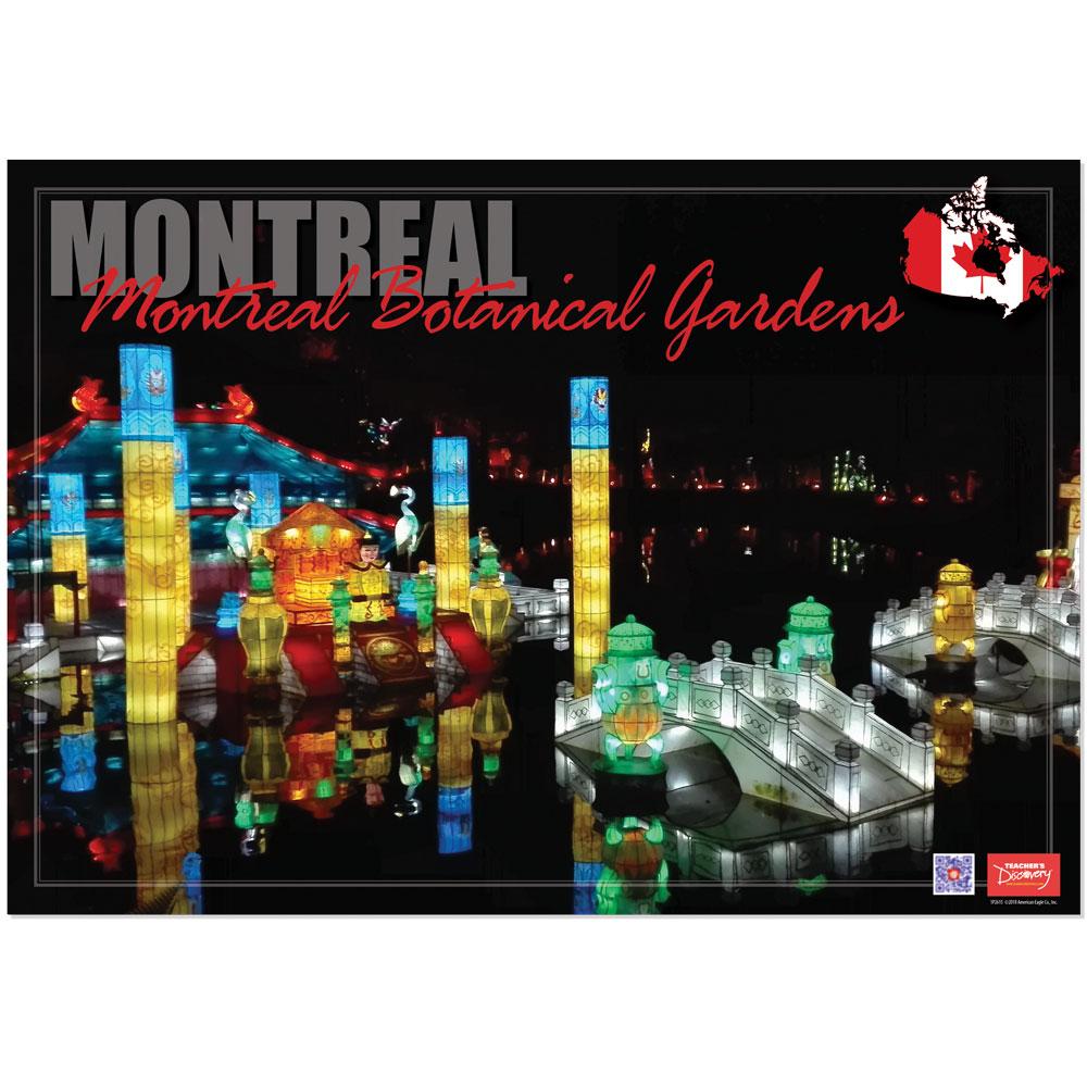 Montreal Botanical Gardens Enhanced® French Travel Poster