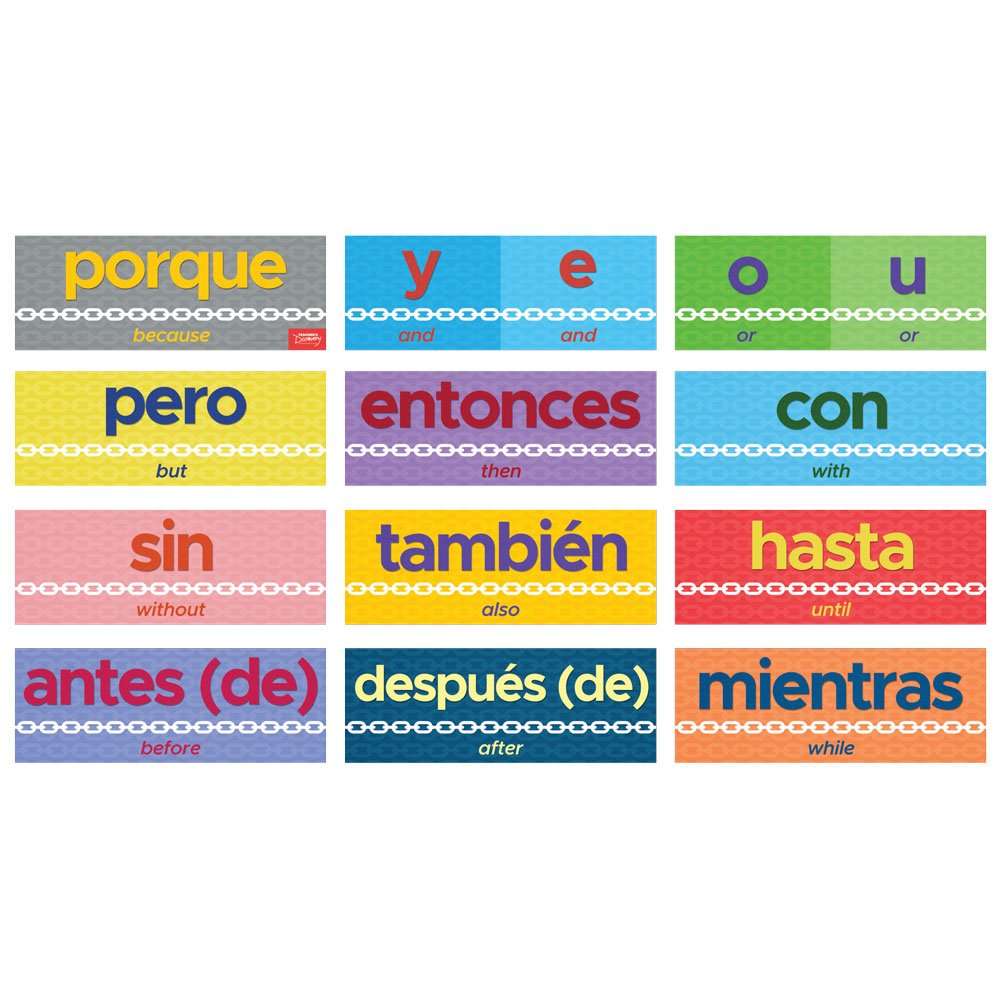 Connecting Words Spanish Sign Set