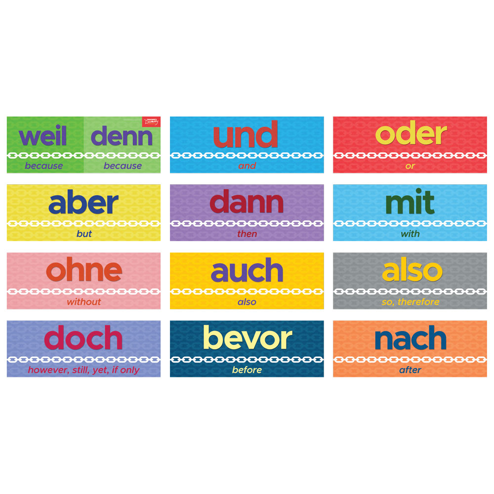 Connecting Words German Sign Set
