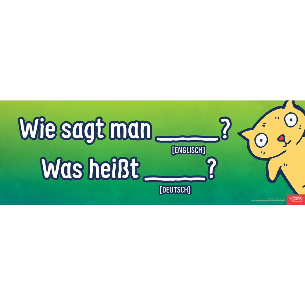 Asking for Words and Meanings German Poster