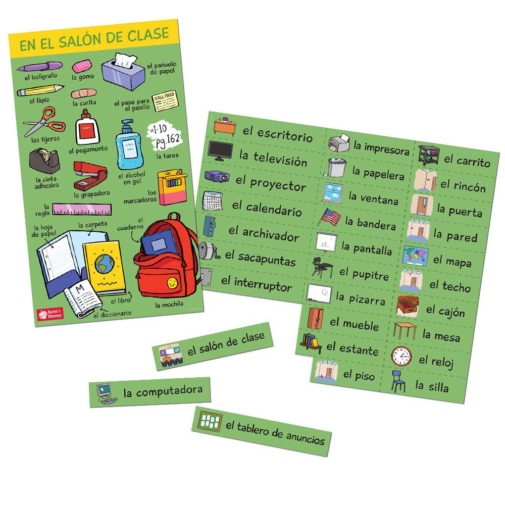 Classroom Nouns Spanish Set