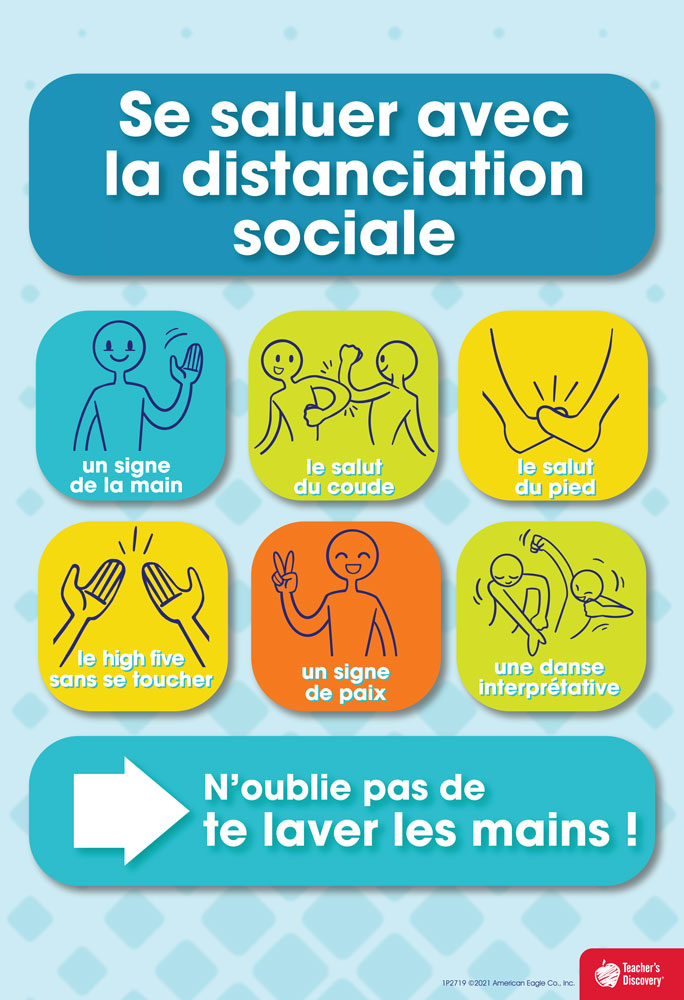 Social Distancing Greetings French Mini-Poster