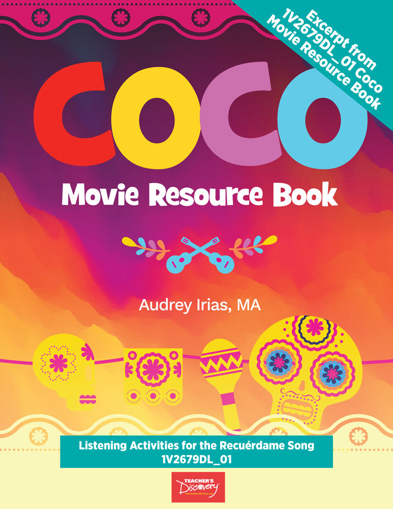Coco Listening Activities for Recuérdame Song - Book Excerpt Download
