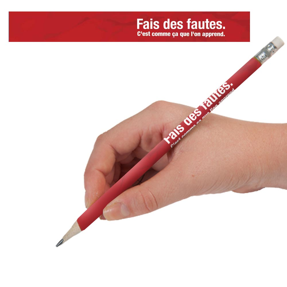 Make Mistakes French Enhanced® Pencils - One Dozen (12)