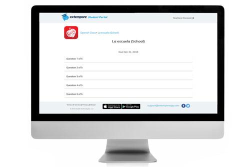 La escuela Oral Assessment for Extempore App