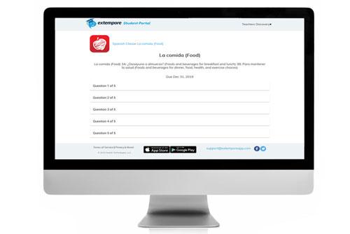 La comida Oral Assessment for Extempore App