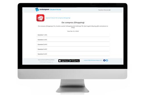 De compras Oral Assessment for Extempore App
