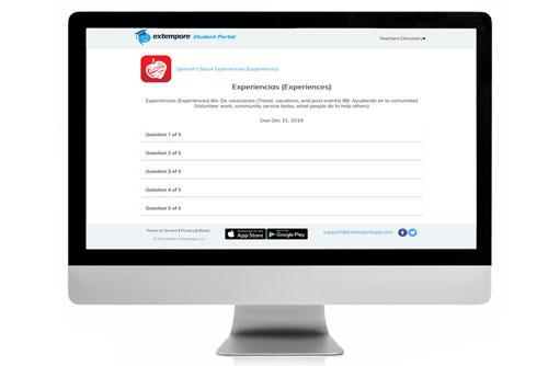 Experiencias Oral Assessment for Extempore App