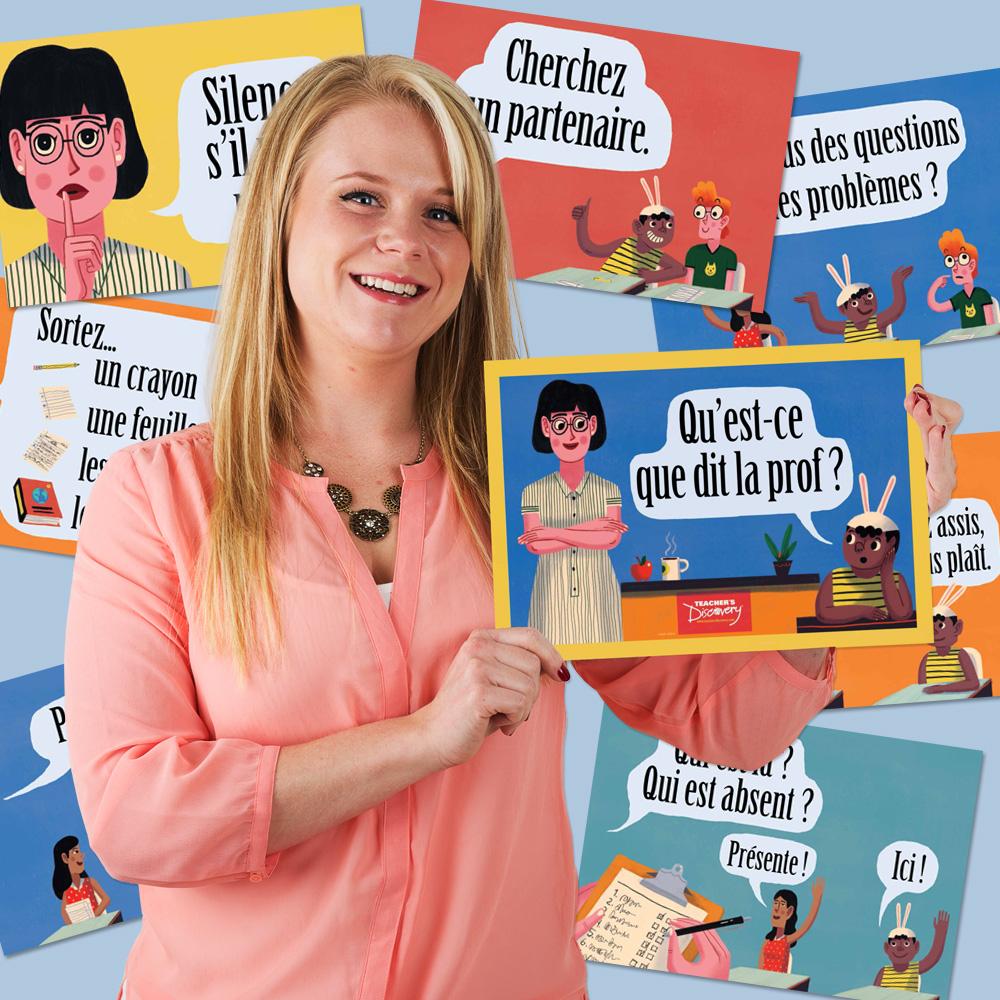 Teacher Says French Mini-Poster Set