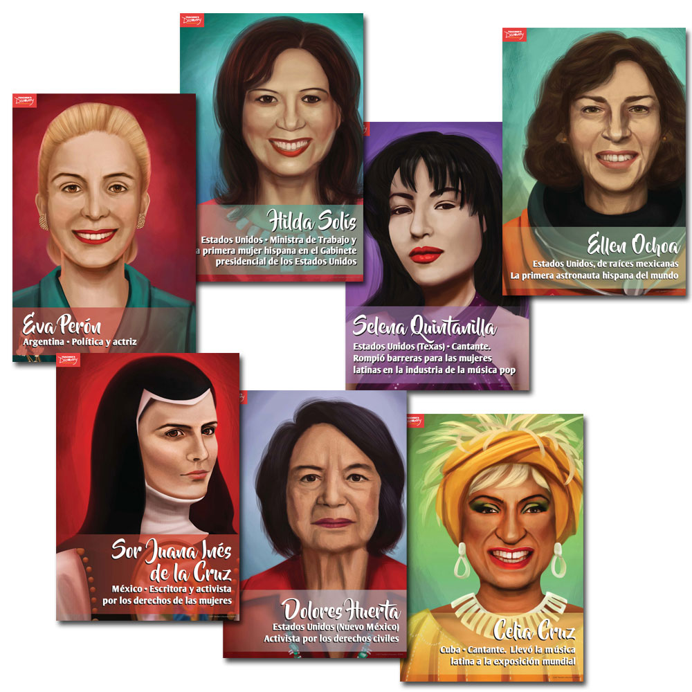 Mujeres revolucionarias Spanish Mini-Poster Set of 15