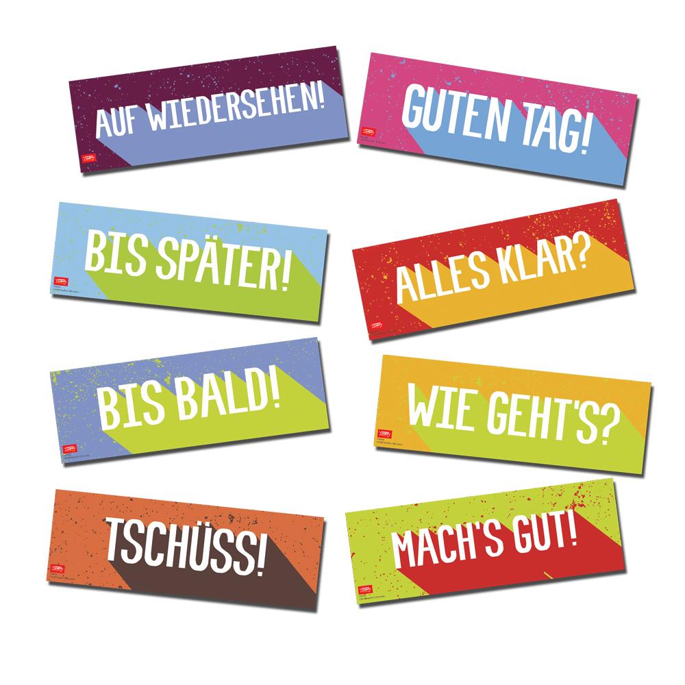 Greetings German Signs Set