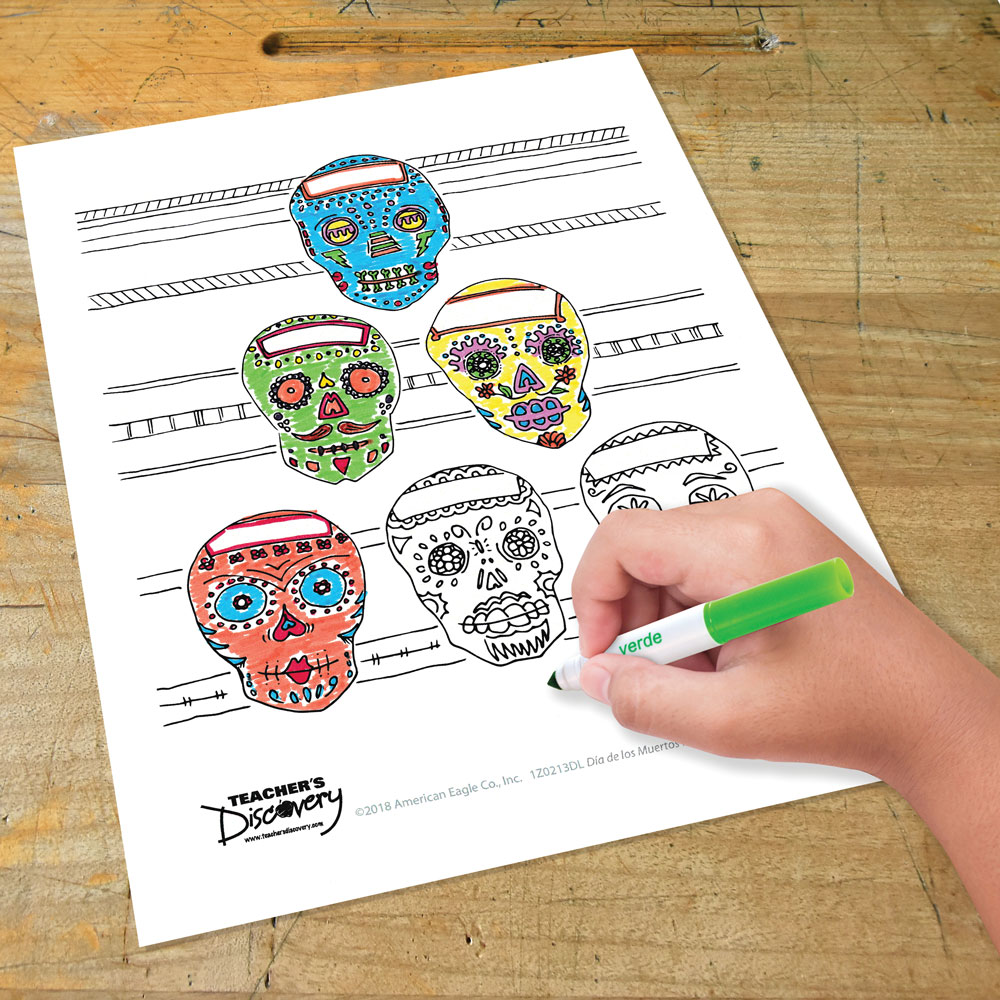 Día de los Muertos Authentic Coloring Pages Printable Download