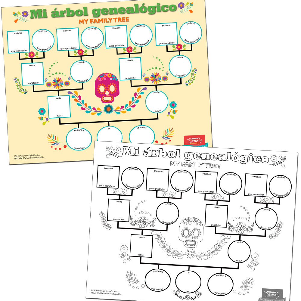 My Family Tree Spanish Printable Download