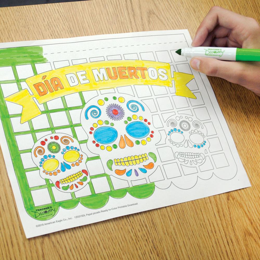 Papel picado Ready-to-Color Printable Download