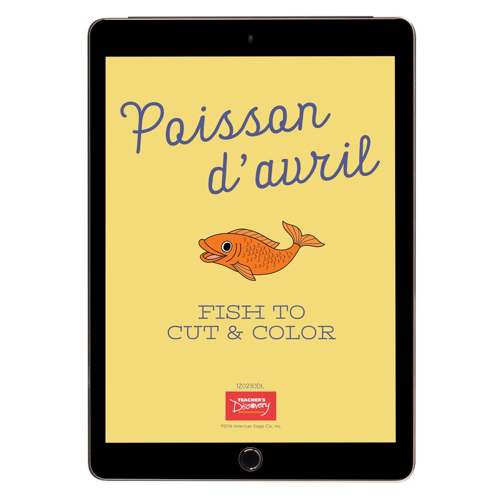Poisson d'avril Fish to Cut and Color Download