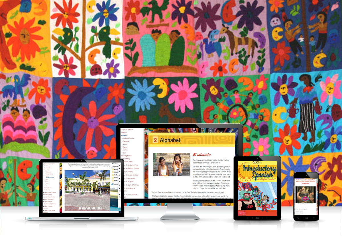 Voces® Introductory Spanish Digital Resource Subscription - Hybrid Learning Resource