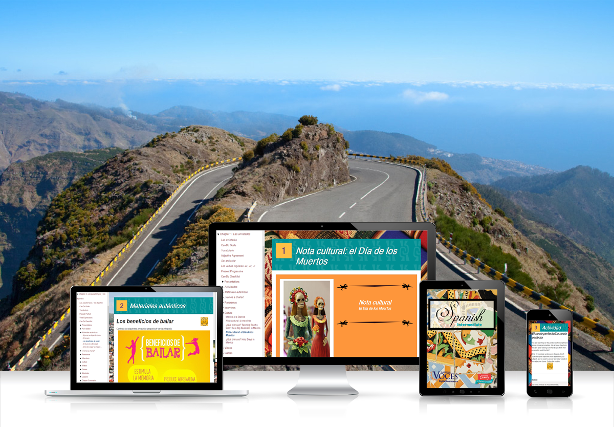 Voces® Spanish Intermediate Digital Resource Subscription - Hybrid Learning Resource