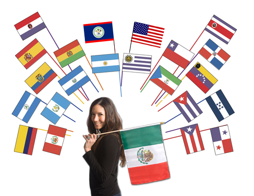 Classroom-Sized Flags of Spanish-Speaking Countries