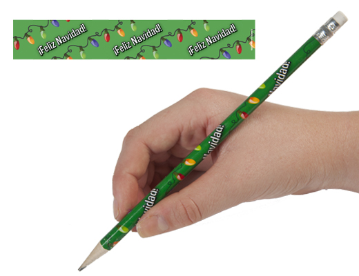 Spanish Christmas Enhanced® Pencils