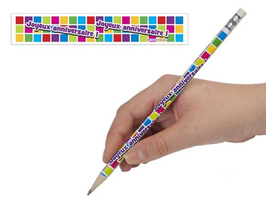 French Happy Birthday Enhanced® Pencils