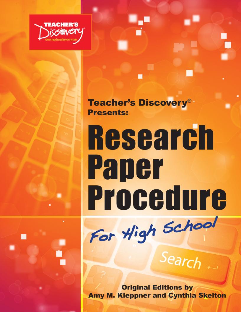Research Paper Procedure Book