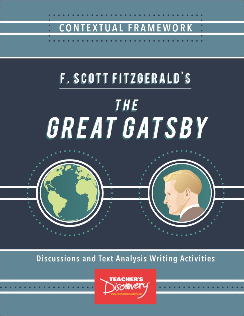 Contextual Framework: F. Scott Fitzgerald's The Great Gatsby Book