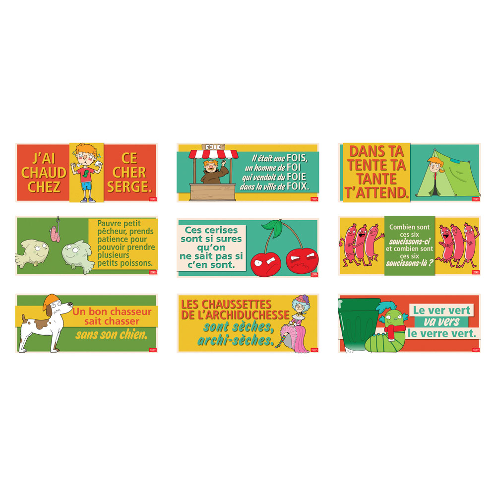 Authentic French Tongue Twister Signs