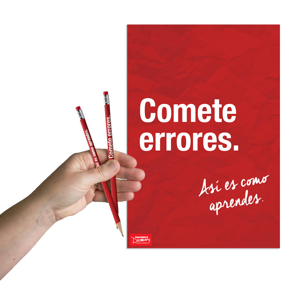 Make Mistakes Spanish Mini-Poster and Pencils (36) Set