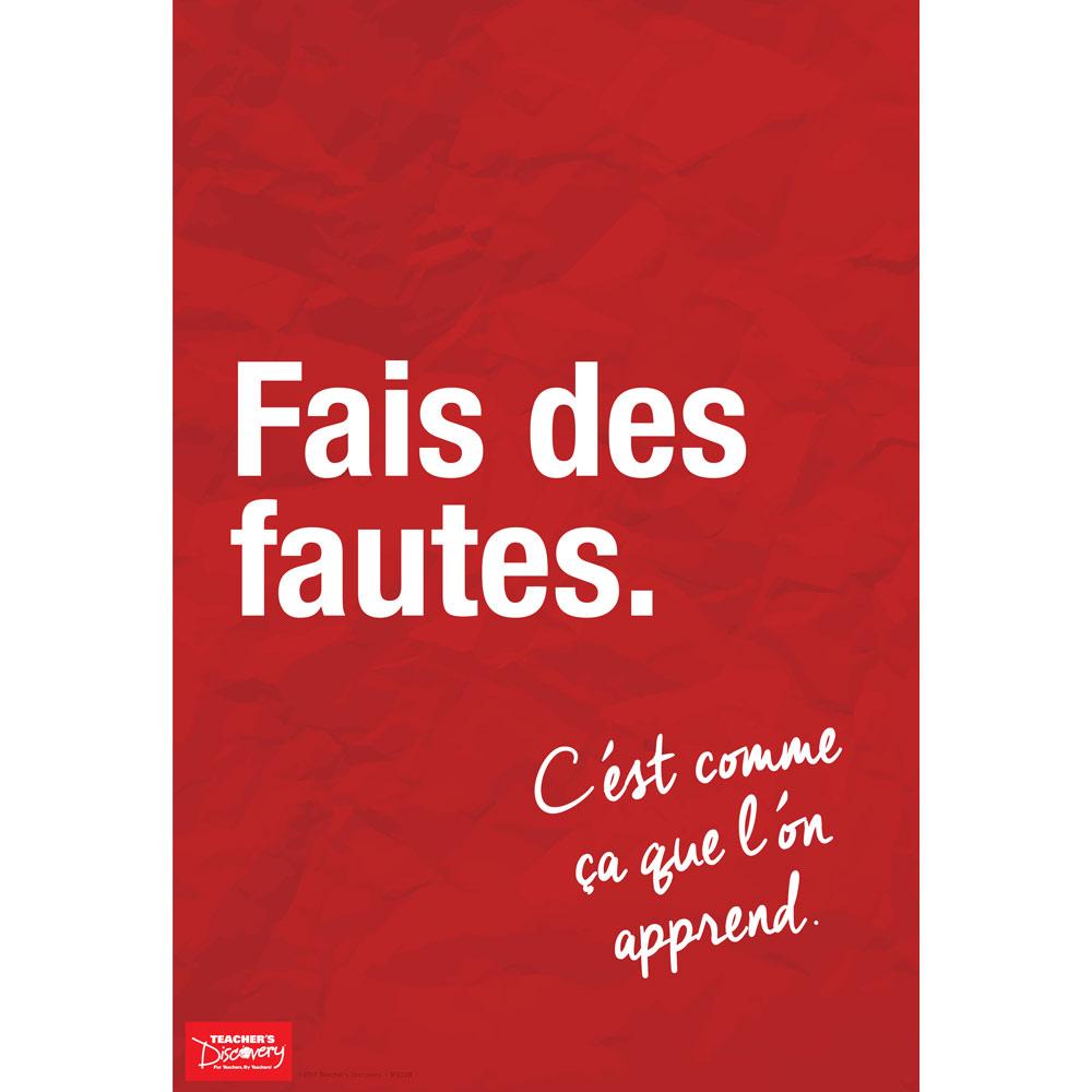 Make Mistakes French Mini-Poster