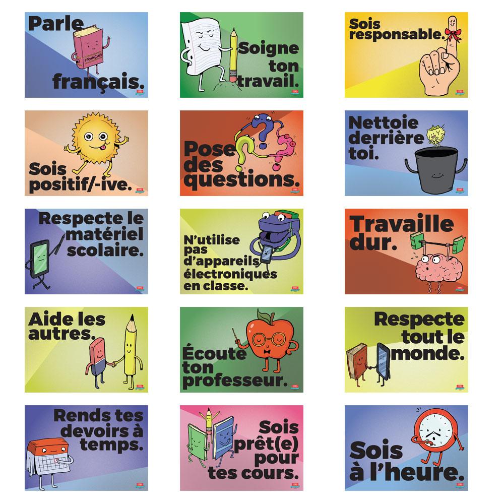 Common Sense Rules French Mini-Poster Set