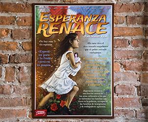 Esperanza renace Marquee Spanish Poster