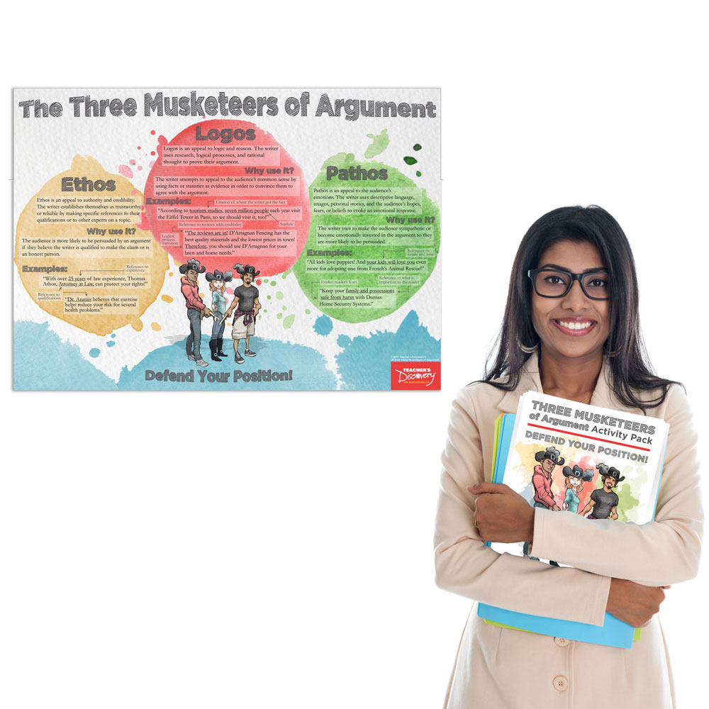 Three Musketeers of Argument Poster and Print Activity Pack