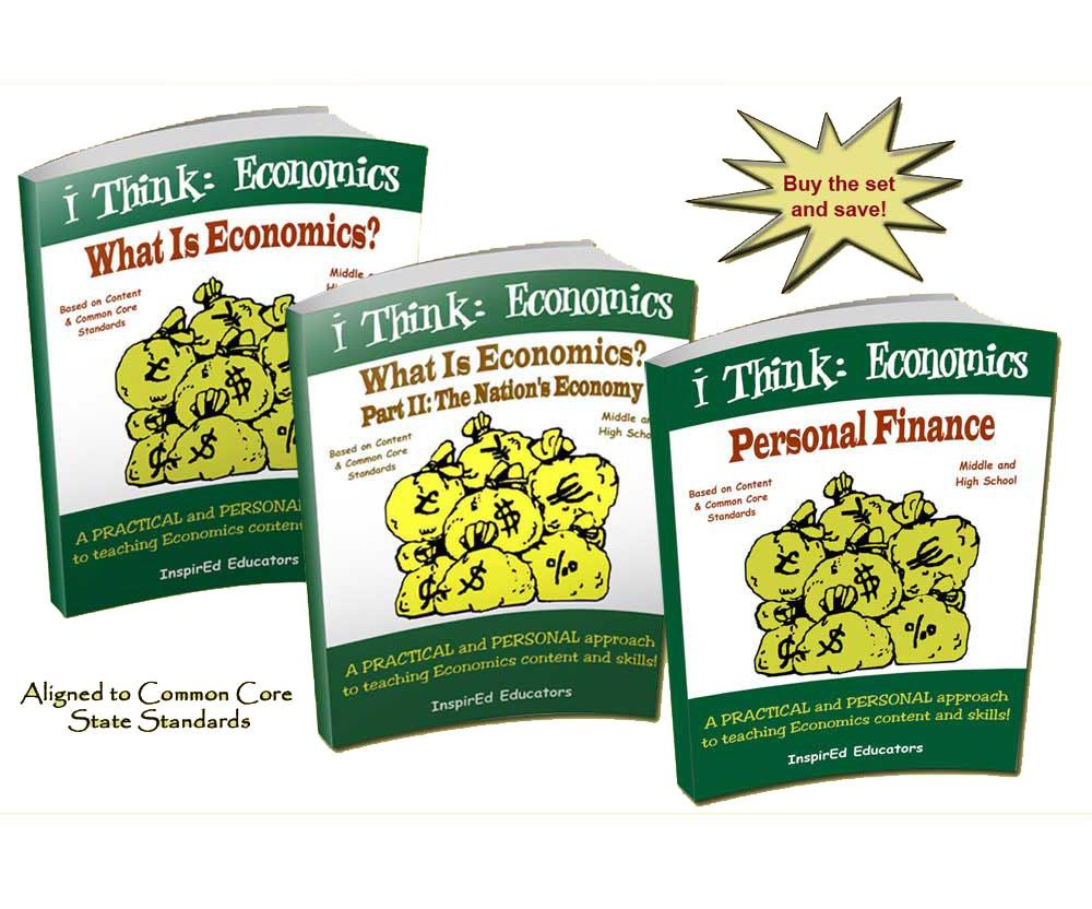 i Think: Economics Activity Book Set of 3 Books