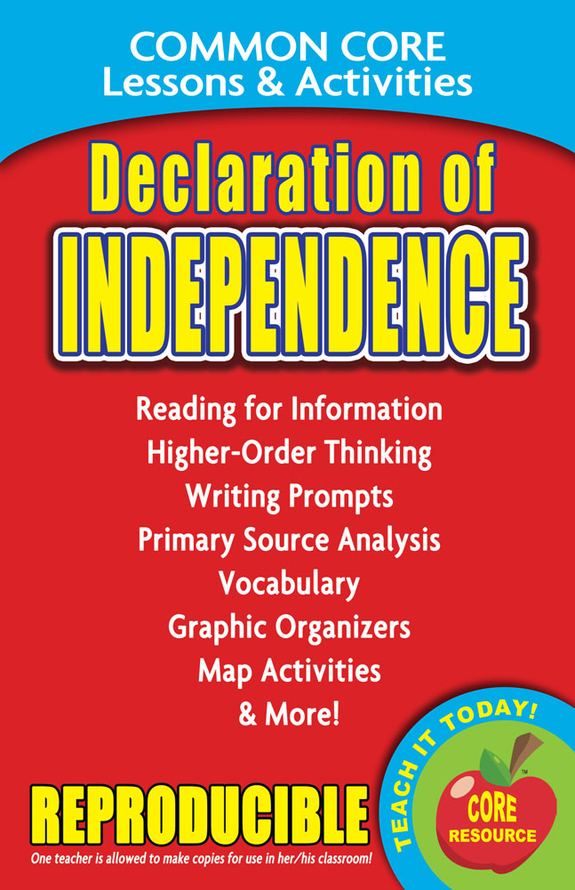 Common Core Lessons & Activities: Declaration of Independence Book