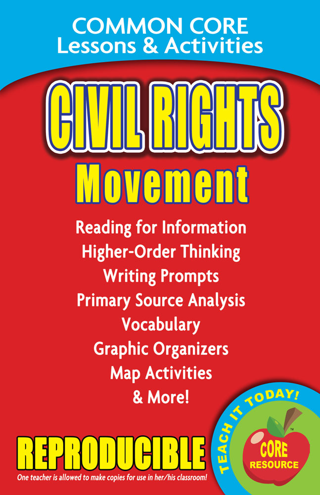 Common Core Lessons & Activities: Civil Rights Movement Book