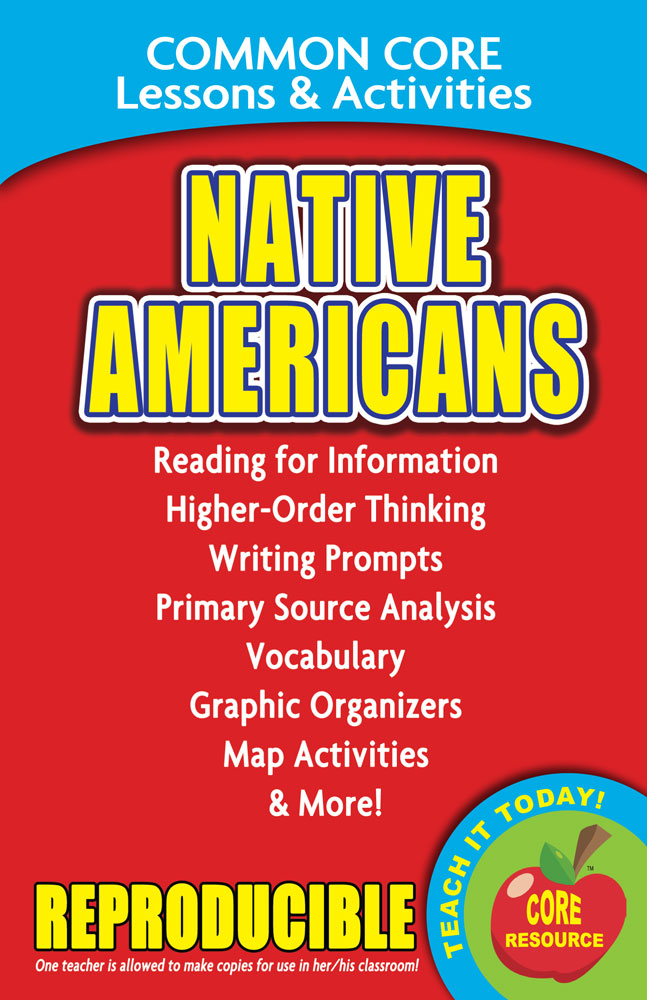 Common Core Lessons & Activities: Native Americans Book