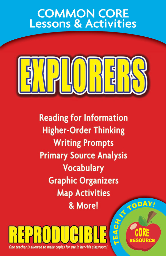 Common Core Lessons & Activities: Explorers Book