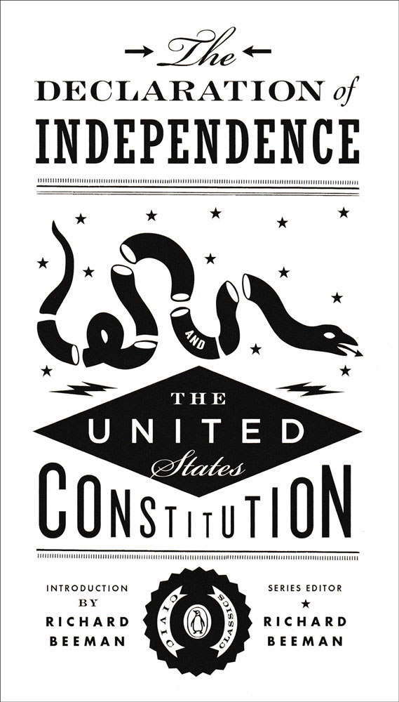The Declaration of Independence and The United States Constitution Book