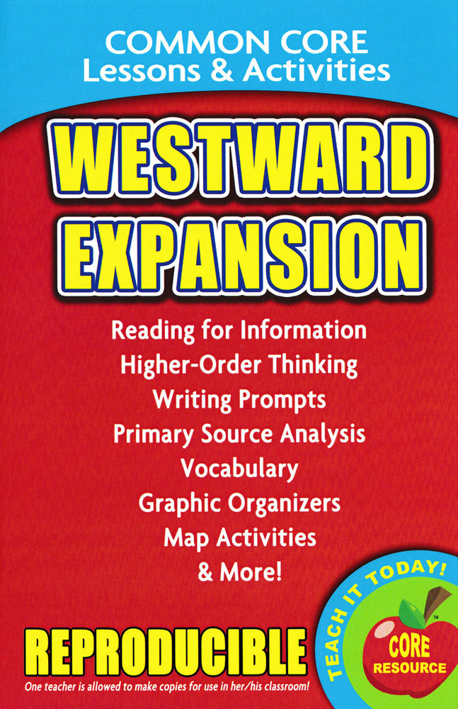 Common Core Lessons & Activities: Westward Expansion Book
