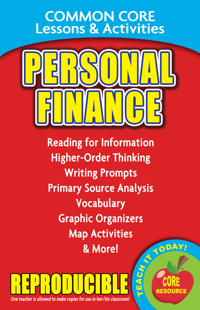 Common Core Lessons & Activities: Personal Finance Book
