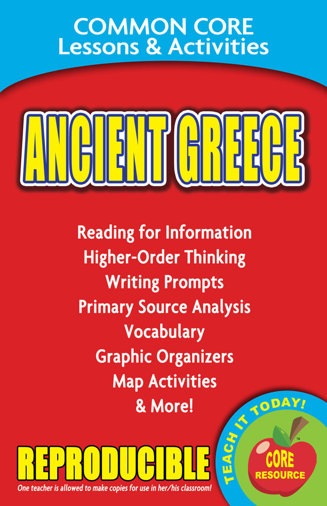 Common Core Lessons & Activities: Ancient Greece Book