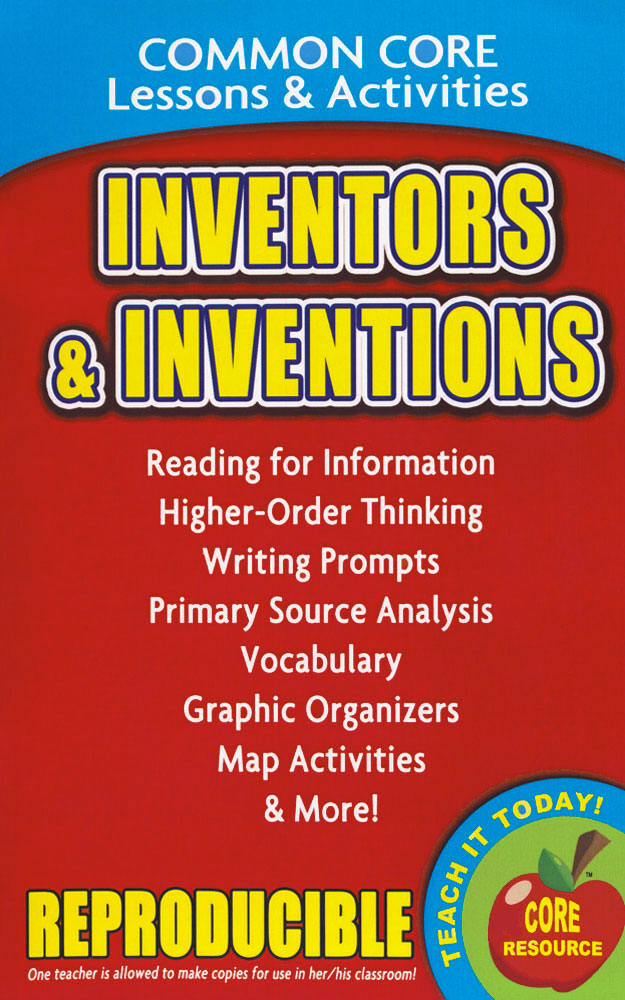 Common Core Lessons & Activities: Inventors & Inventions Book