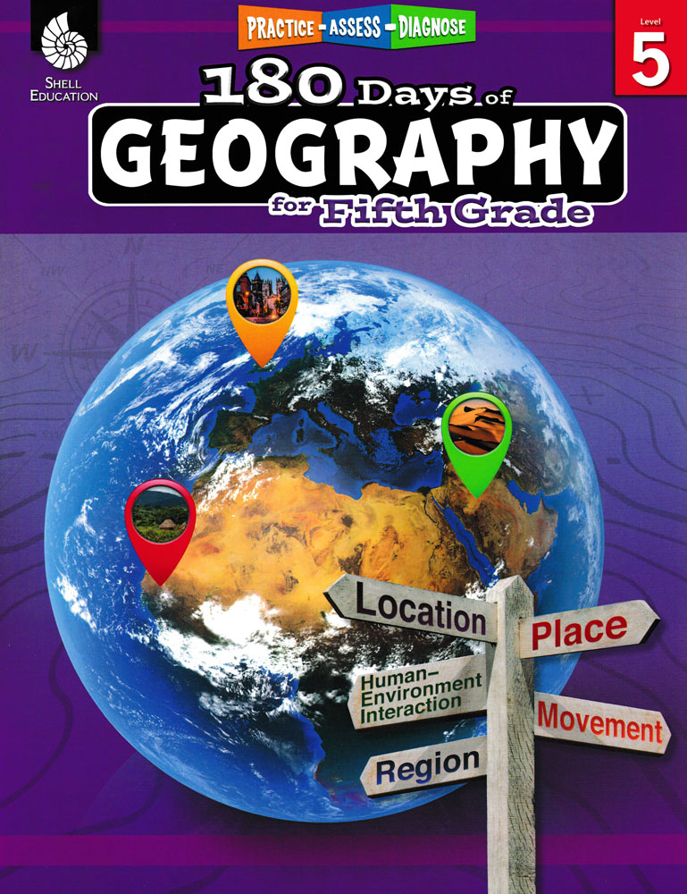 180 Days of Geography for Fifth Grade Book - 180 Days of Geography for Fifth Grade Print Book