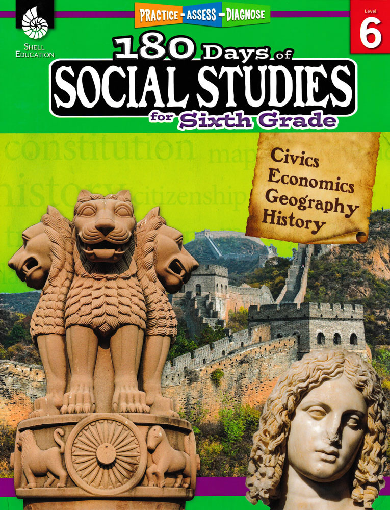 180 Days of Social Studies for Sixth Grade Book