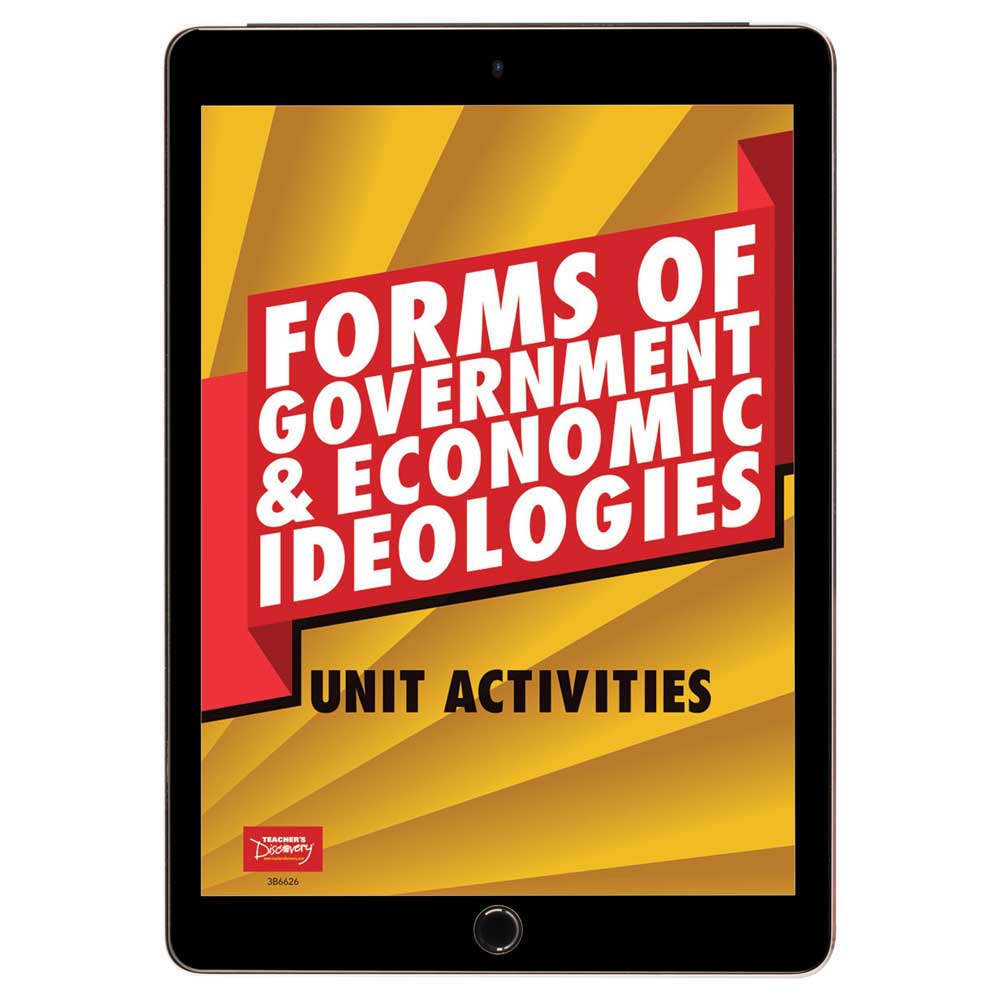 Forms of Government and Economic Ideologies Unit Activities Book