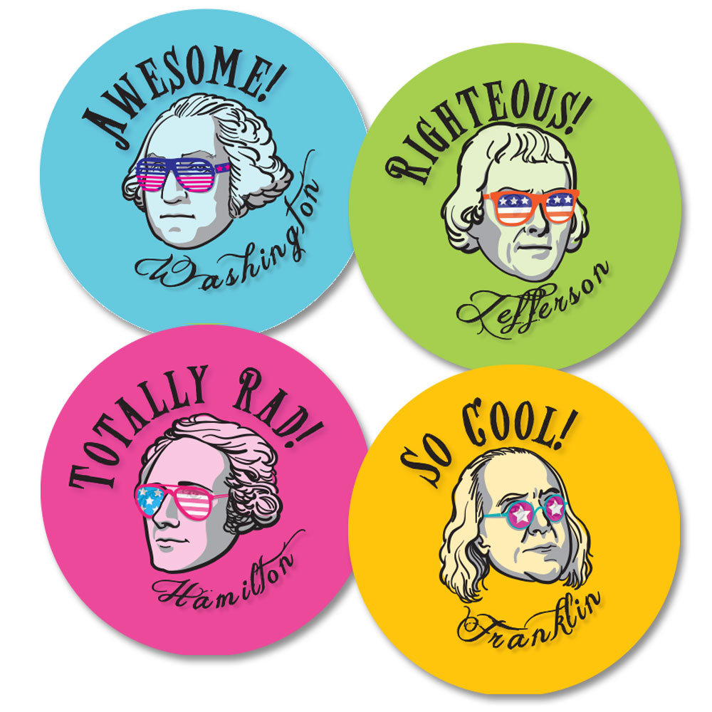 Founding Fathers Stickers (100)