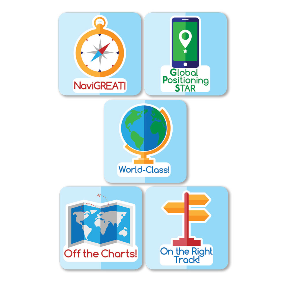 Geography Stickers (100)