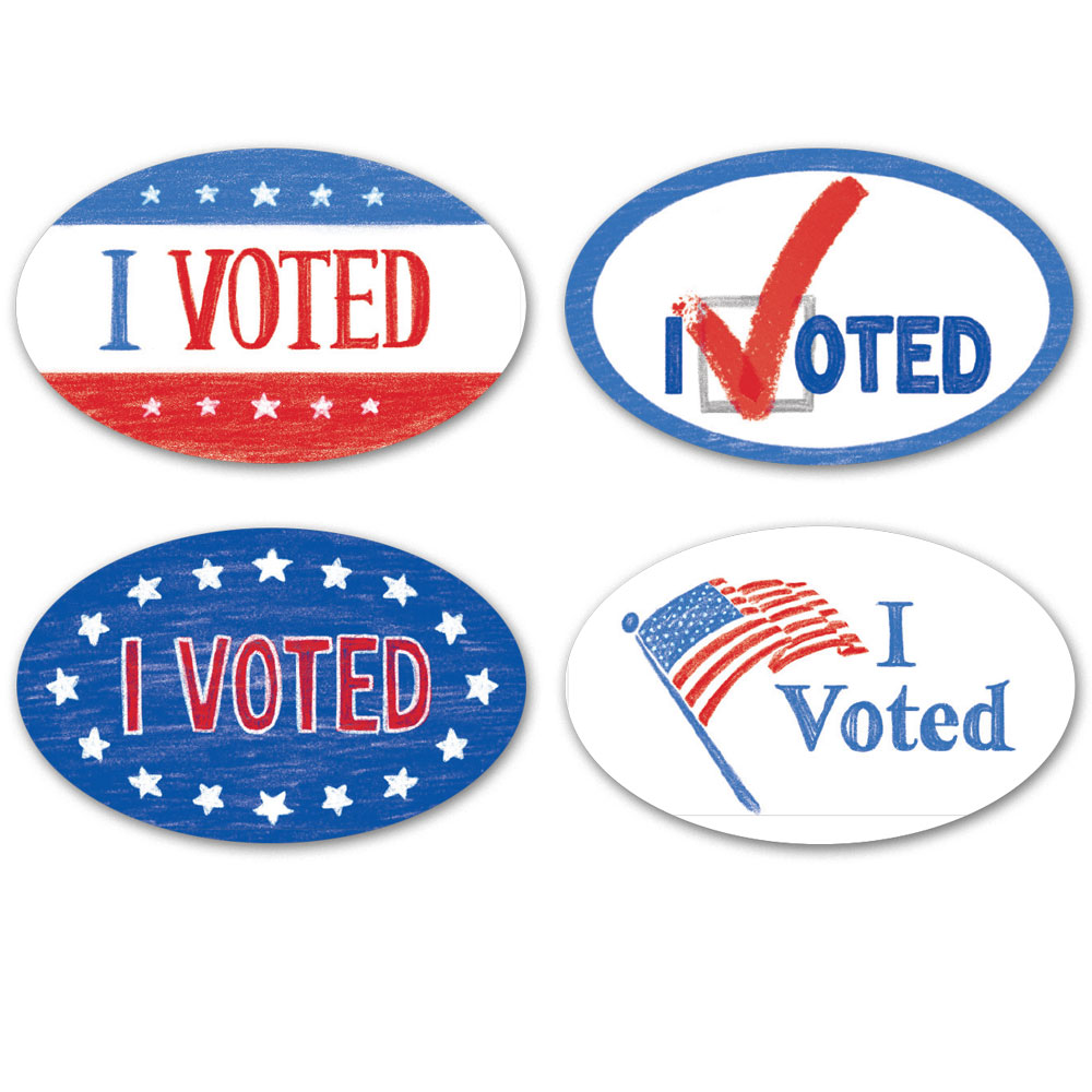 I Voted Stickers (128)