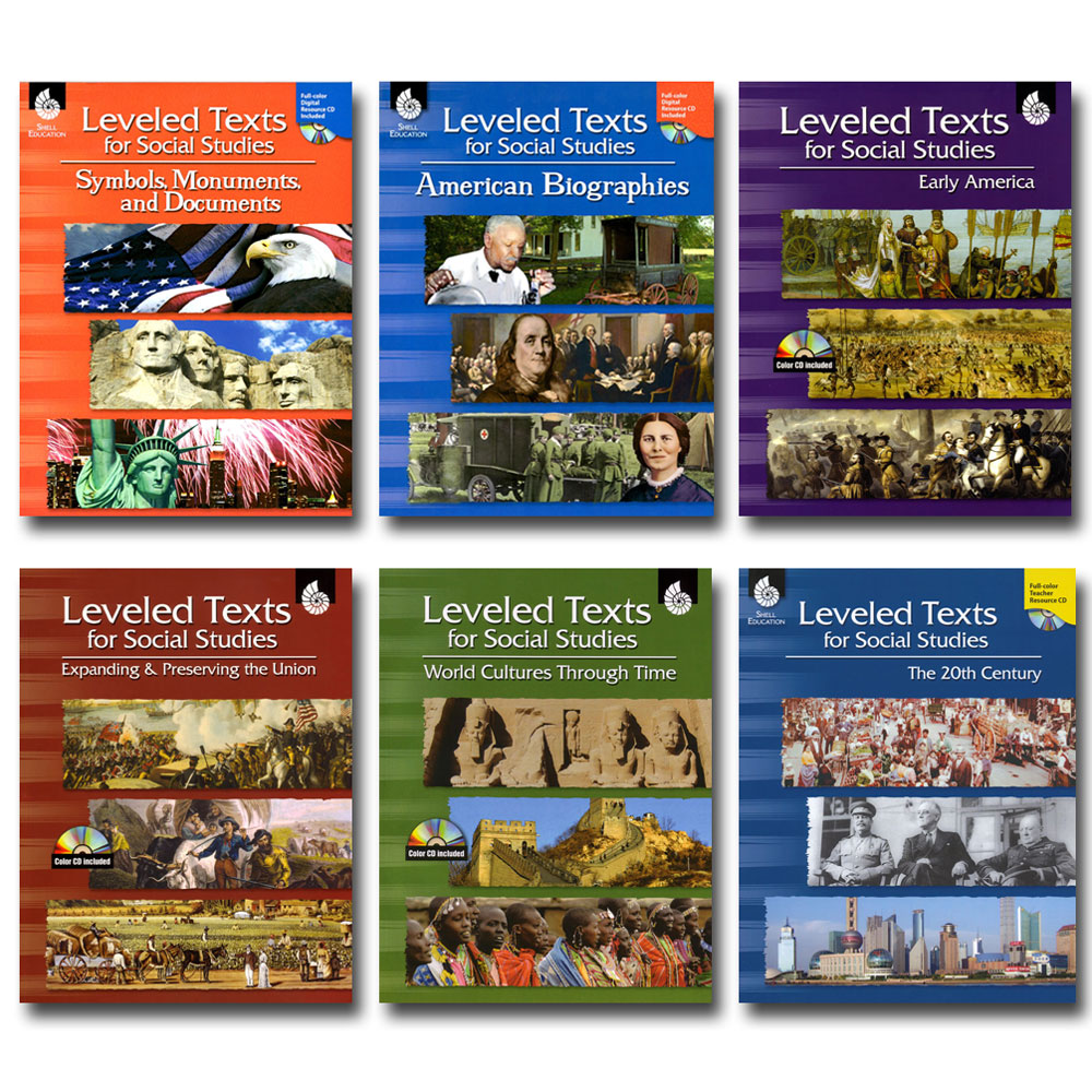 Leveled Texts for Social Studies - Set of 6